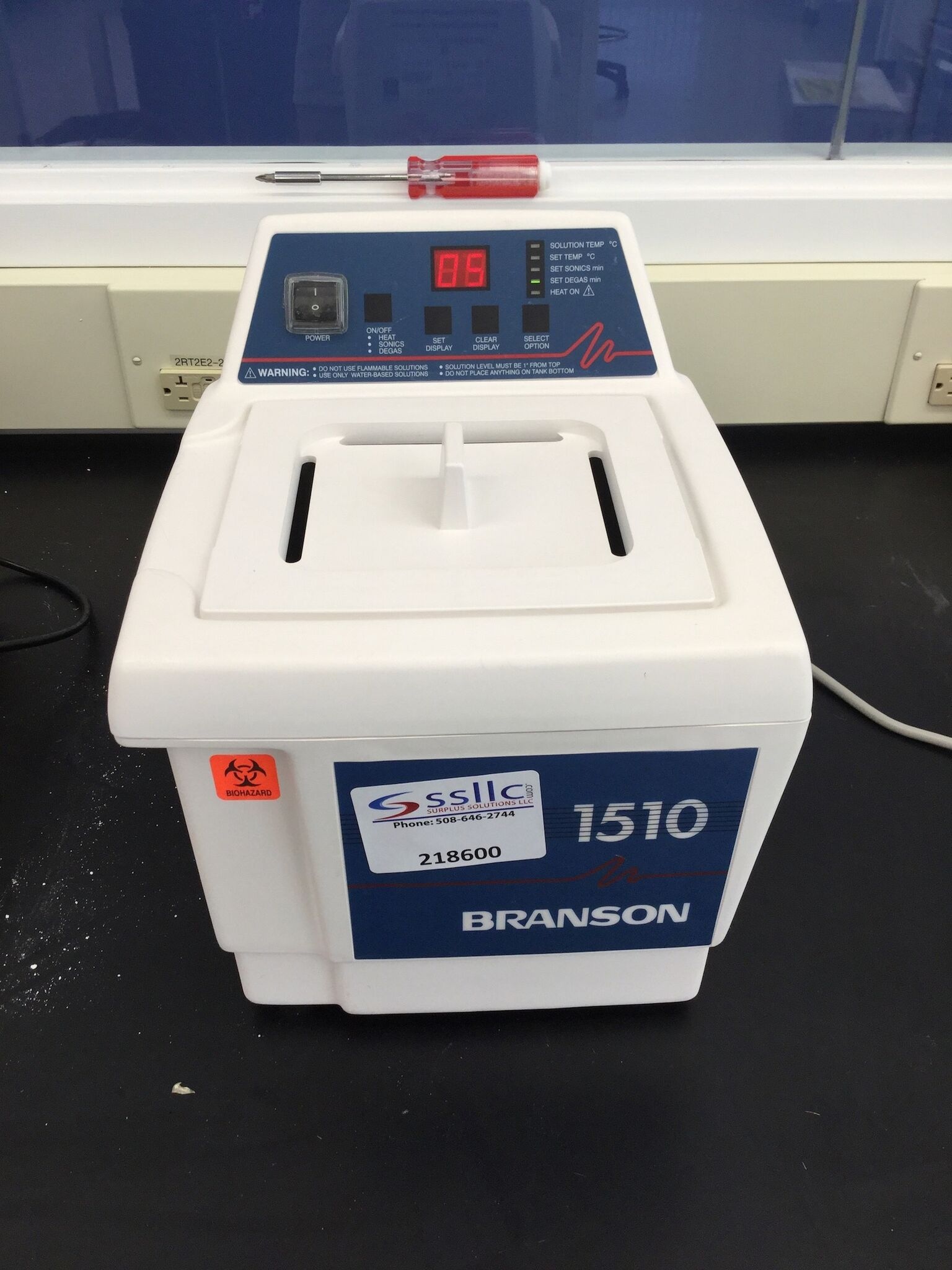 Lot 60 - Brandon Model 1510R-DTH Ultrasonic Cleaner