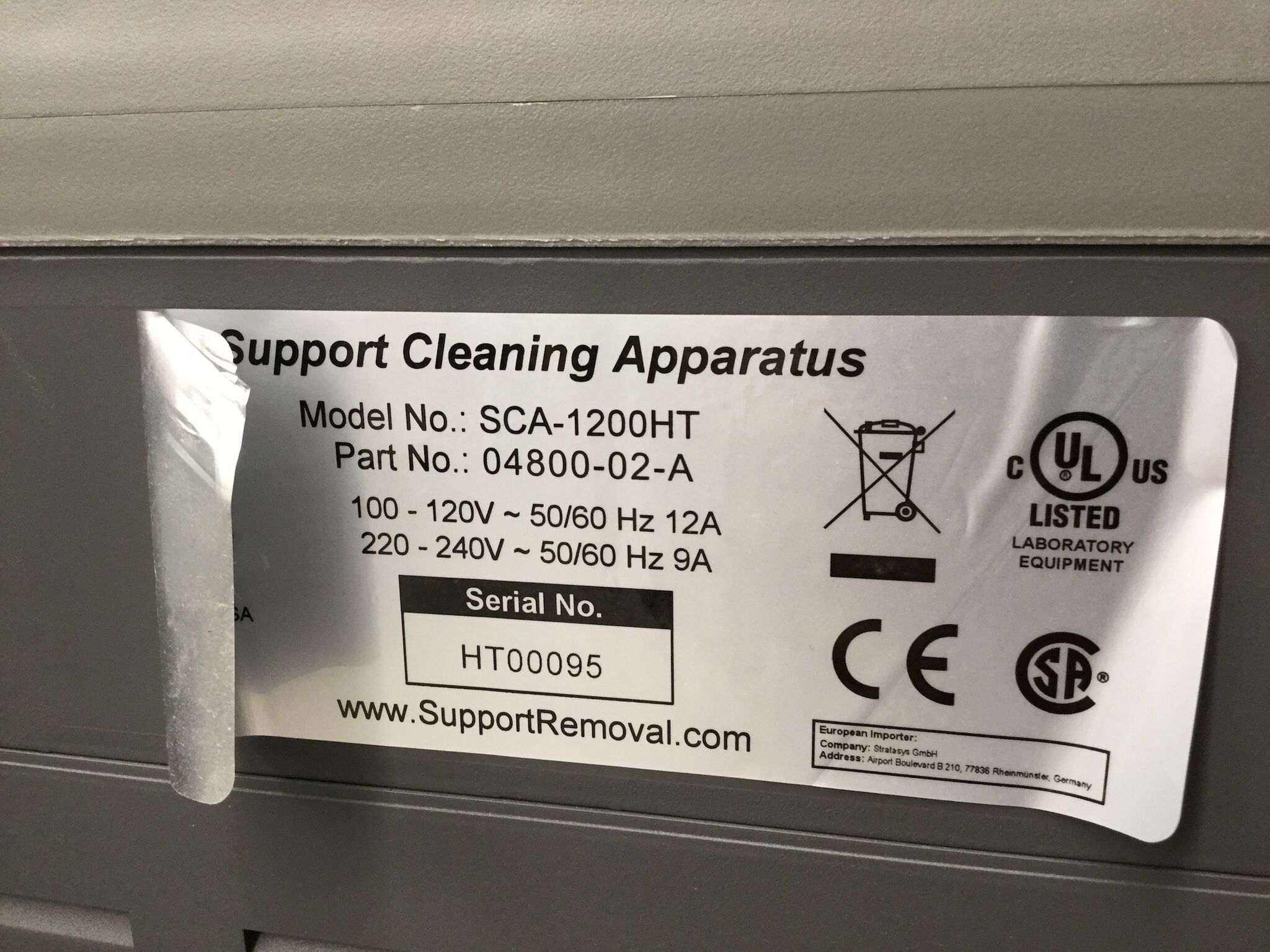 Lot 23 - Support Cleaning Apparatus Model SCA-1200HT