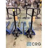 (2) narrow 5500 lbs capacity pallet jacks