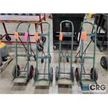 (4) portable acetylene tank carts
