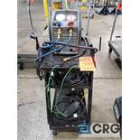 Robinair RG3 commercial refrigerant recovery unit with cart