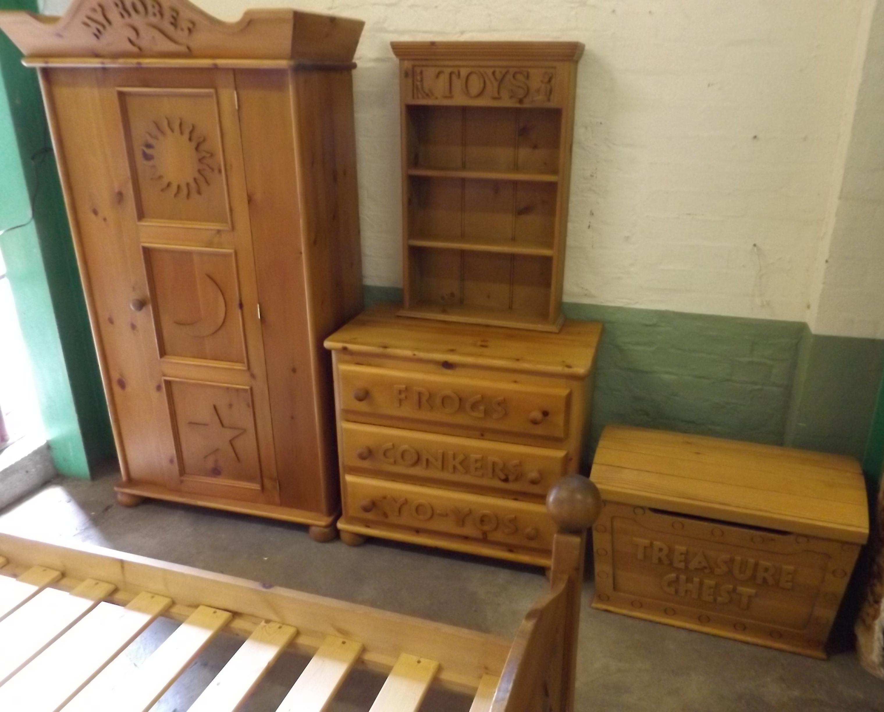 Steve allen for children pine bedroom suite comprising - Childrens pine bedroom furniture ...