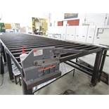 "20' x 6' Metal Stock Cooling Table (Used with Extruder), (14) Fan Racks, 8"" Dayton Shear Model"