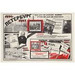 Propaganda Poster Soviet Lenin Petersburg USSR