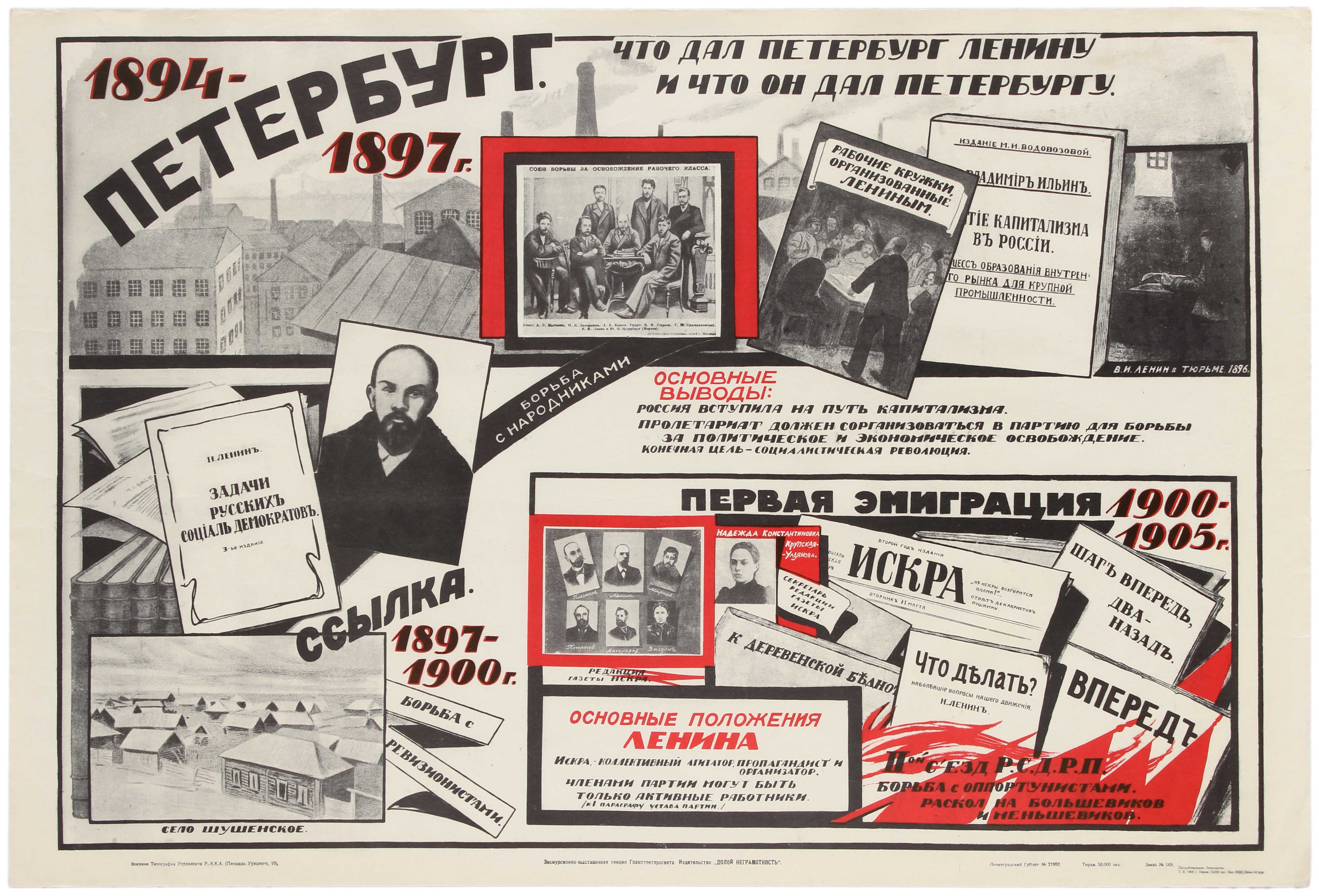 Lot 3 - Propaganda Poster Soviet Lenin Petersburg USSR