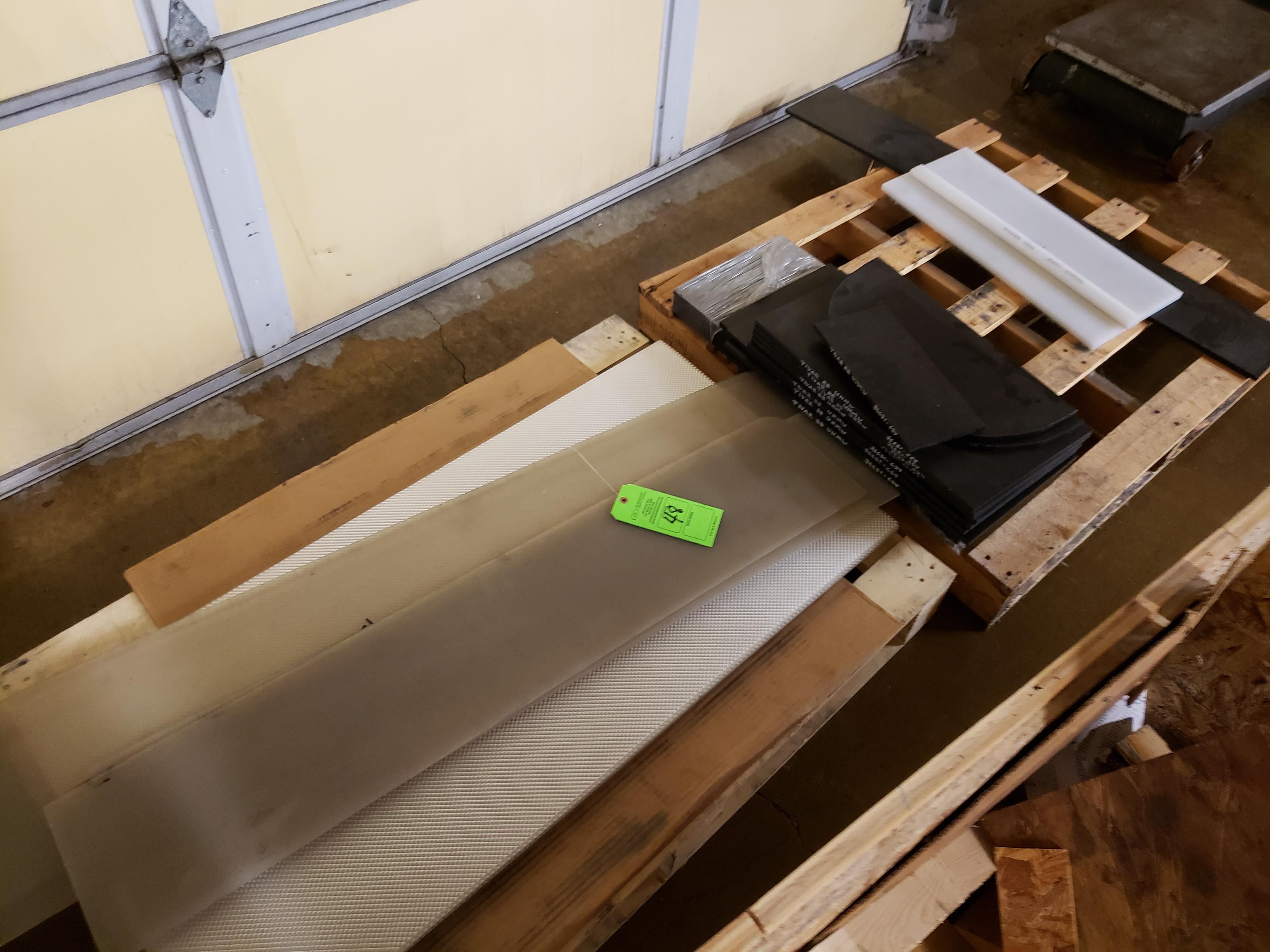 Lot 48 - (2) PALLETS OF UHMW TIVAR PLASTIC