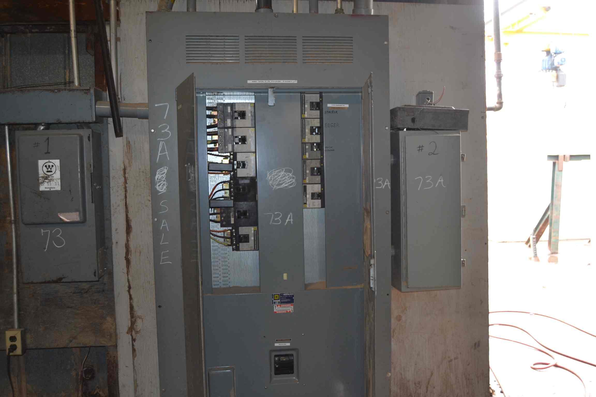 Square d 800 amp i line panel board lot 73a square d 800 amp i line panel board sciox Images