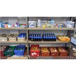 Quantity of cleaning products, food stuffs, toiletries, toys, novelties & general household items.