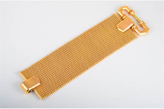 18K wide bracelet  stamps 750, and a gold stamp 173 PAL