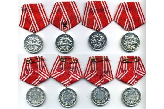 Denmark, Copies: Defence Medals (4), reverse Kuwait 1991, Saudi