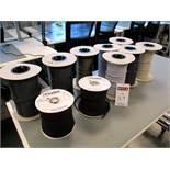 (8) spools of Designer Cord Coverings and (2) spools Varflex Electrical Sleevings