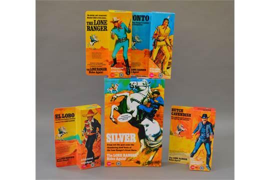 Marx Toys The Lone Ranger figurine repro box