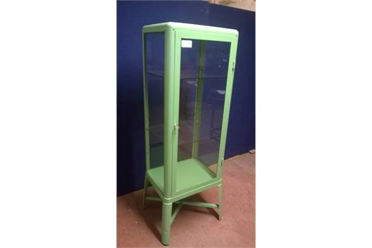 Ikea Metal Framed 39fabrikor39 Lockable Glass Display Cabinet