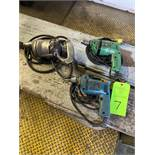 lot of (3) electric drills hand tools