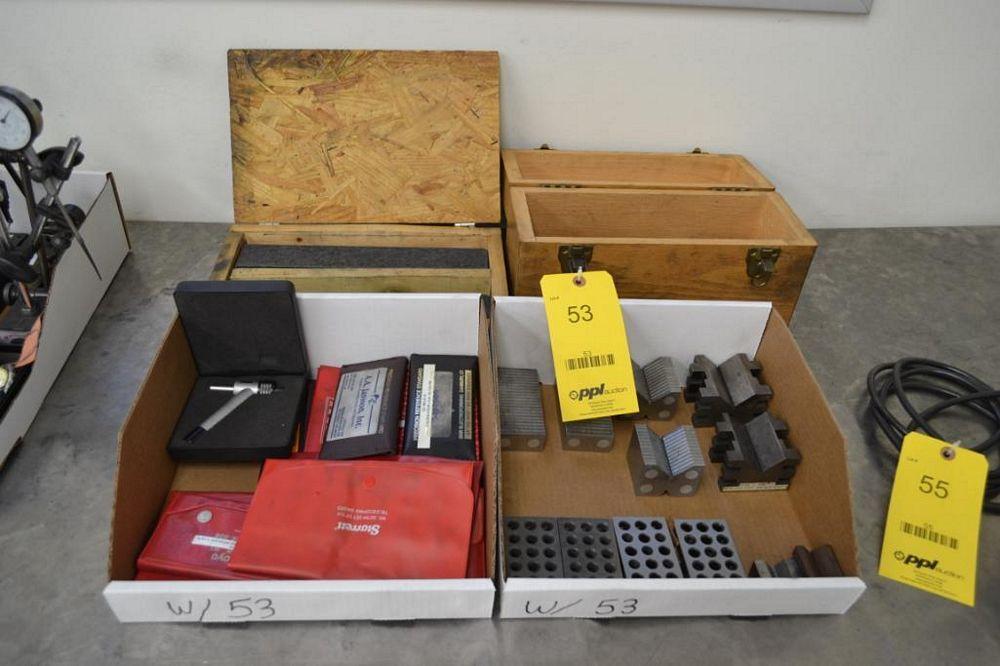 LOT: Assorted V-Blocks, 1-2-3 Blocks & Gauge Sets