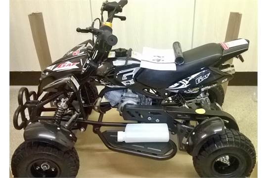 No Vat Brand New 49cc Mini Moto Atv Quad Bike In Black With Decals