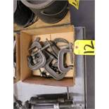 (10) ASSORTED C-CLAMPS