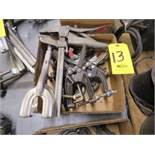 ASSORTED VISE GRIPS AND WELDERS CLAMPS