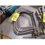 (3) DEEP THROAT C-CLAMPS