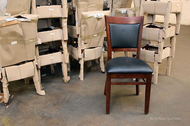 Lot 31 - Dark Mahogany Upholstered Chair w/ Upholstered Back