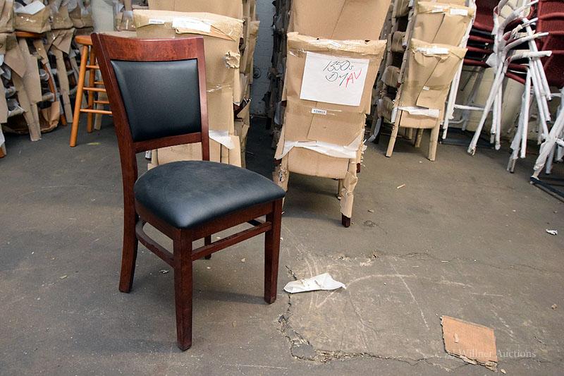 Lot 33 - Dark Mahogany Beechwood Upholstered Chairs