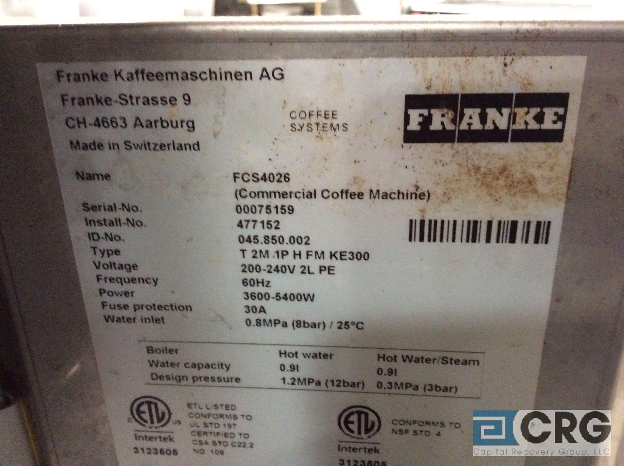 Lot 149 - (1) Franke, FM850 Foam Master Espresso Machine (kitchen)