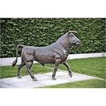 EXCEPTIONAL 2M LONG REAL BRONZE BULL STATUE