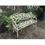 CAST IRON COALBROOKDALE BENCH IN ANTIQUE WHITE