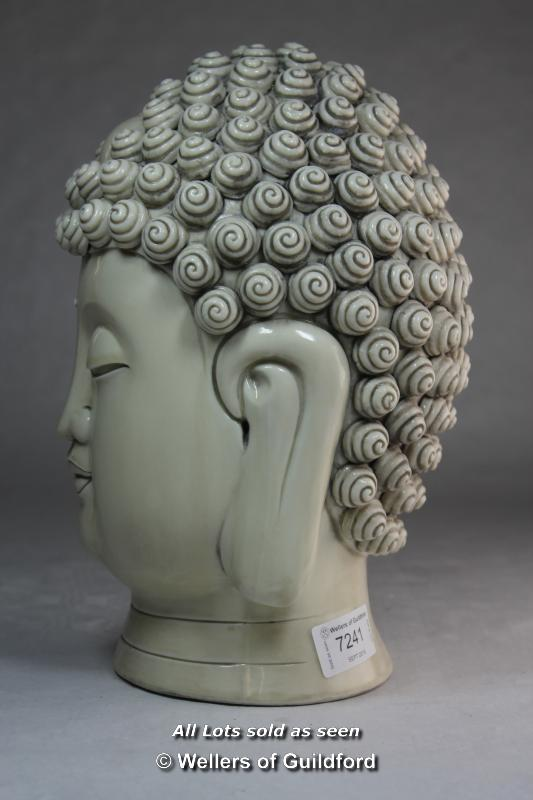 A Chinese blanc-de-chine portrait bust of Buddha, impressed mark to back of neck, 28cm. - Image 2 of 5