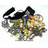 *Selection of vintage costume jewellery (Lot subject to VAT)