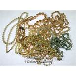 Selection of imitation pearl necklaces