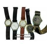 *Five gentlemen's wristwatches