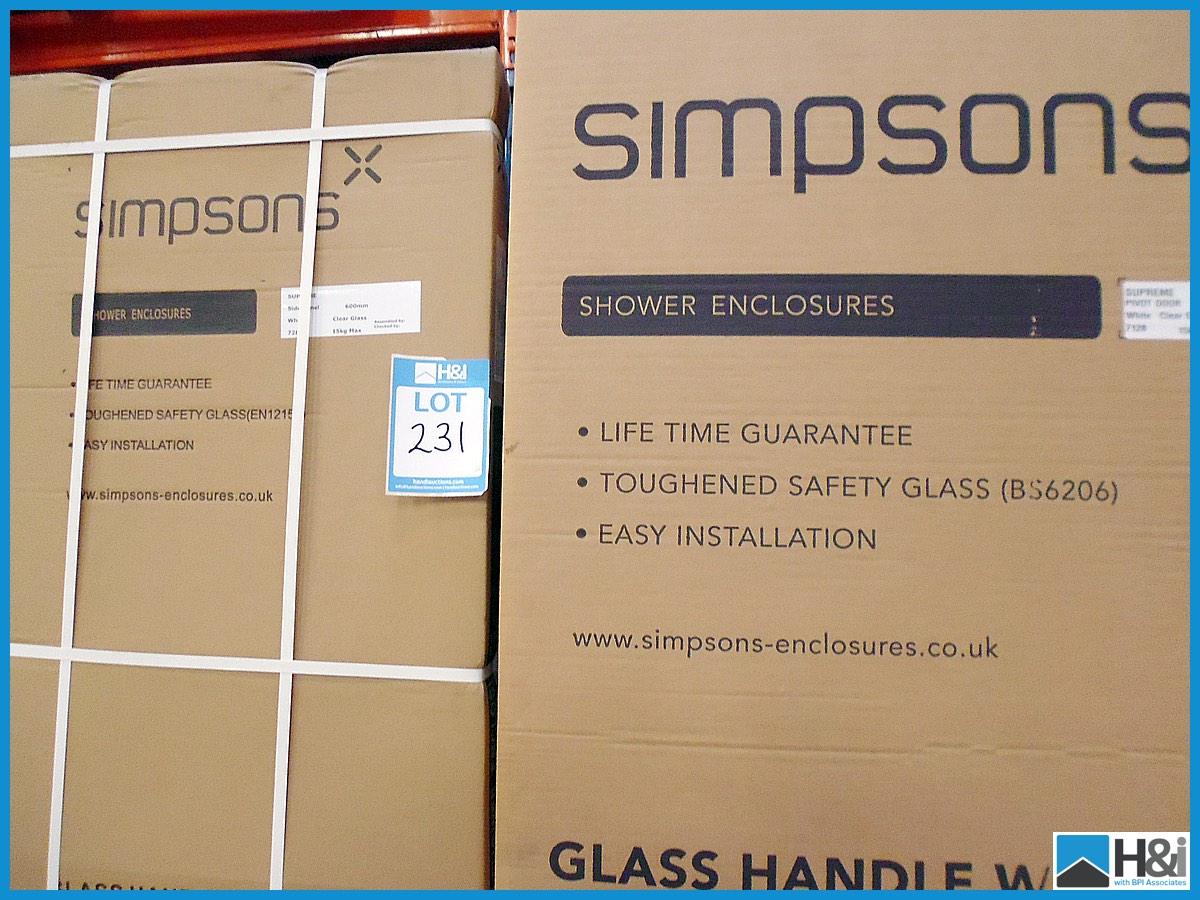 Simpsons Supreme Shower Enclosure 600mm Pivot Door