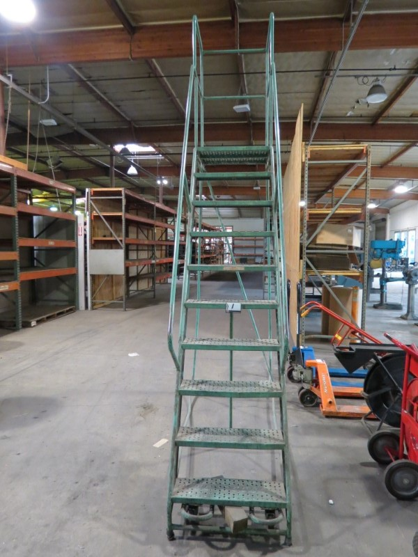 Lot 34 - *Must be paid for and picked up by 1/18/19* 10 Step Warehouse Ladder (Located in Simi Valley, CA)