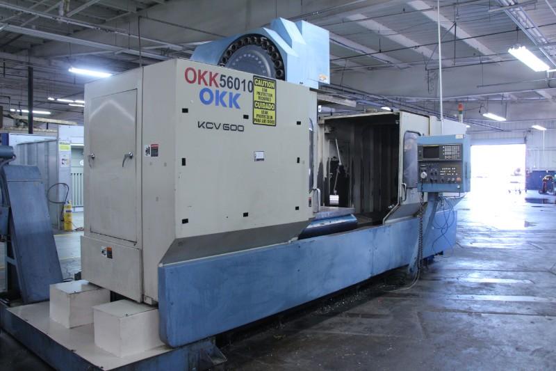 "Lot 2 - OKK KCV 600 – 20L CNC Vertical Machining Center, Fanuc 16M control, 80"" x 25"" x 25"" trvls, 6000 RPM,"