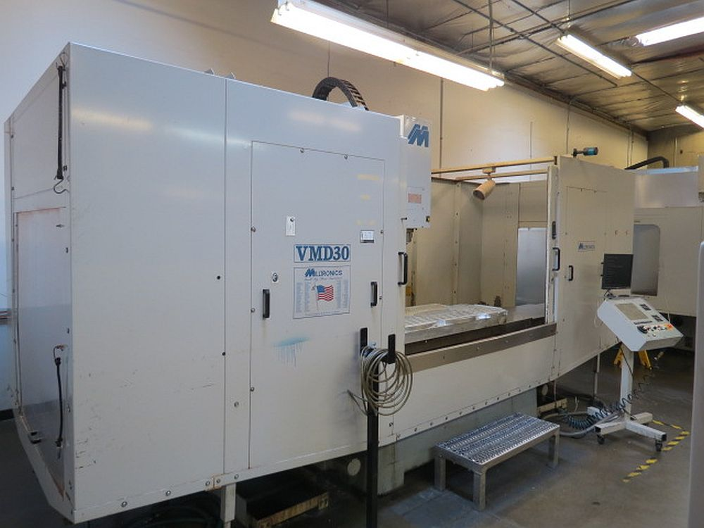 Lot 19 - MILLTRONICS VMD30-F CNC VERTICAL MACHINING CENTER, S/N 6987, NEW 2001 (Located in Granite Falls, WA)