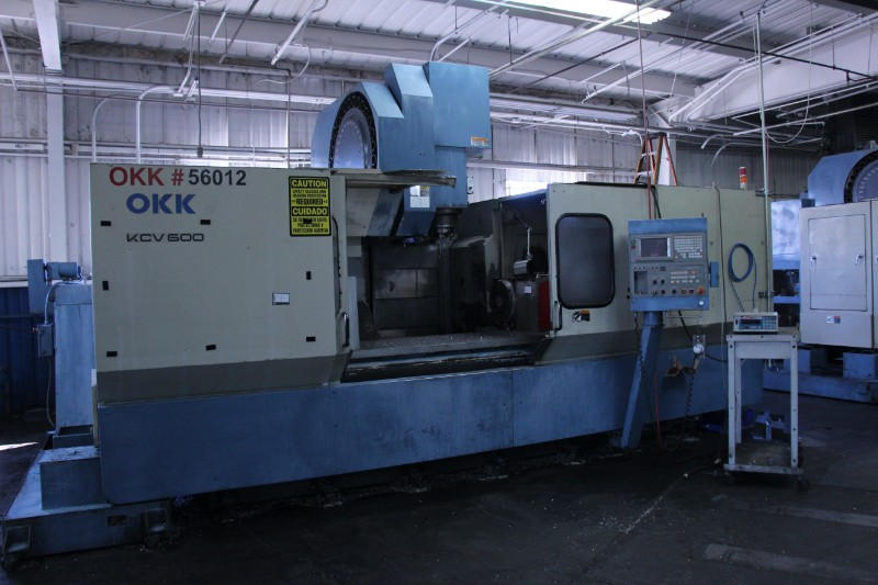 Lot 4 - OKK KCV600 – 20L CNC 4 Axis Vertical Machining Center (Rotary Table Sold Separate)