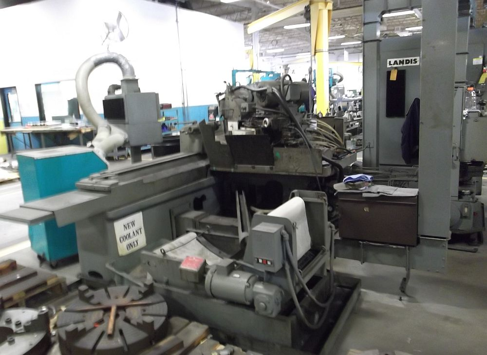 "Lot 21 - 18"" x 72"" Landis 3RH Universal Cylindrical Grinder, Microtronic infeed, 16"" x 2"" grinding wheel"