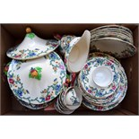 A large part tea service and dinner service of Royal Cauldron 'Victoria'
