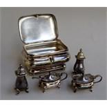 A continental tea caddy/sugar casket,