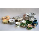 A quantity of ceramics to include Grays Pottery and Rosenthal saucers,