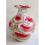 A large Murano style glass vase,