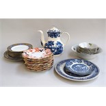 A number of Chapman's side plates; Old Willow plates; Shelley plates;