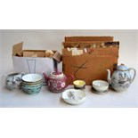 A Japanese tea service and other oriental ceramics