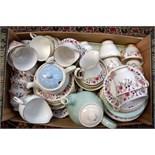 A quantity of vintage tea wares.
