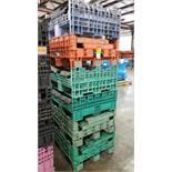 Qty 6 - Collapsible bulk drop down pallets.