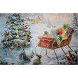 Lot to Contain 3 Assorted Items to Include Night Breeze Christmas Graphic Art Print, Only Limits