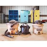 (3) Wet/Dry Vacuums 120V, 60HZ, 8.1A 120V, 60HZ, 8.1A; Mfg's: (1) Dayton; (2) Ridgid