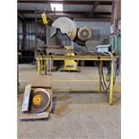 """14"""" Chop Saw Unit 5HP Motor, 230/460V, 1720 RPM, 08'-Yr, 3PH; W/ (10) 14"""" Dewalt Discs"""