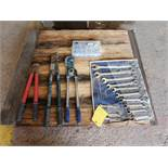 Hand Tools To Include But Not Limited To: 13 Piece Combo Wrench Set 9mm-32mm; Heavy Duty Crimp